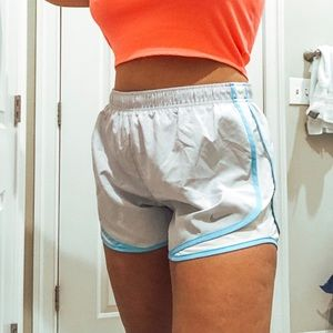 NEW Light Grey and Blue Nike Tempo Running Shorts